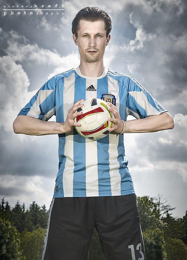 Portrait of a footballer